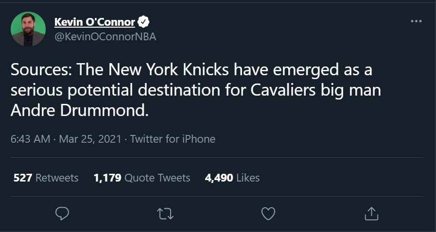 kevin-o-connor-knicks-andre-drummond